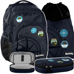 Štýlová školská taška pre chlapcov v trojkombinácii TRAVEL
