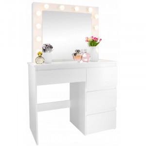 Luxusný toaletný stolík so zásuvkami a osvetlením