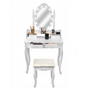 Toaletný stolík na kozmetiku s LED svetielkami
