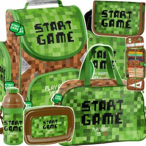 Moderná šesťdielna školská taška pre chlapcov MINECRAFT