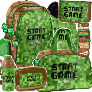 Originálny školský šesť časťový batoh START GAME