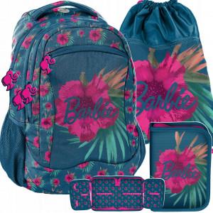 Dievčenská školská trojdielna taška s motívom BARBIE