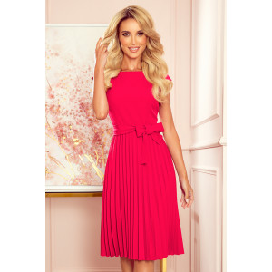 Malinovo ružové dámske spoločenské šaty