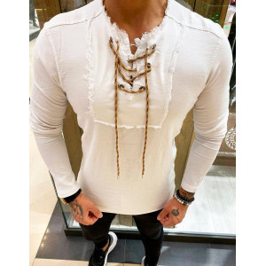 Štýlová pánska košeľa v bielej farbe