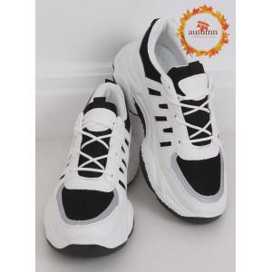 Čierno biele dámske športové tenisky