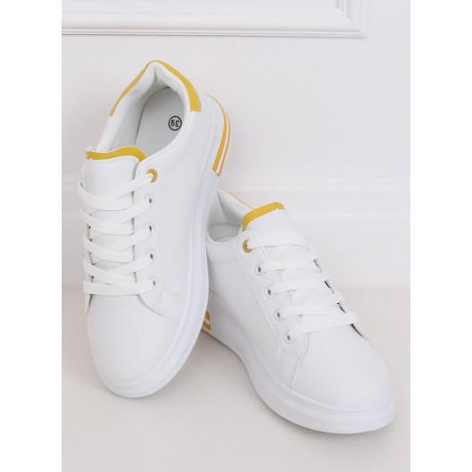 Štýlové bielo žlté športové topánky pre dámy