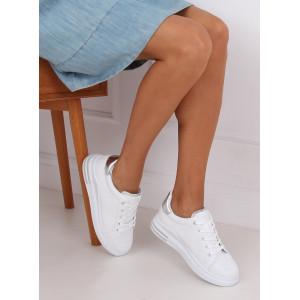 Pohodlné dámske tenisky na leto bielej farby