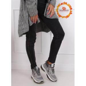 Dámska šnurovacia športová obuv sivej farby