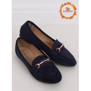 Originálne dámske modré mokasíny navy blue