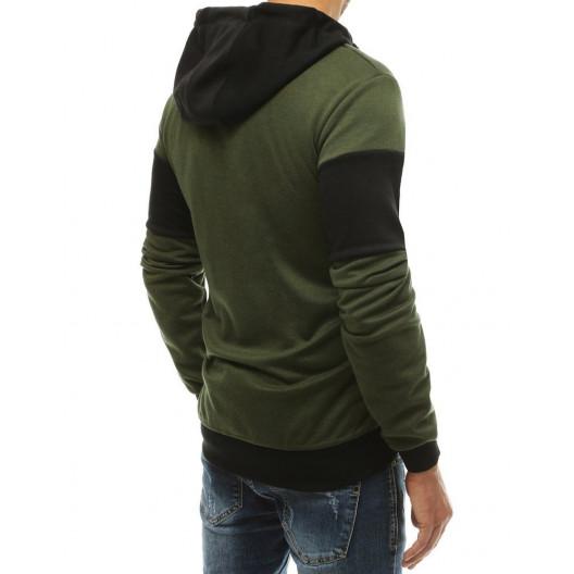 Pohodlná mikina zelenej farby bez zipsu