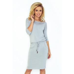 Štýlové športové šaty v sivej farbe
