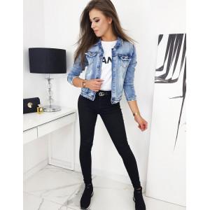 Dámska krátka jeansova bunda