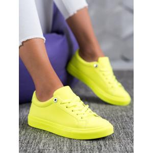 Extravagantná žltá dámska športová obuv