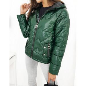 Trendová jesenná bunda tmavo zelenej farby