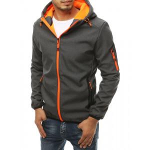 Pánska softshellová bunda s kapucňou