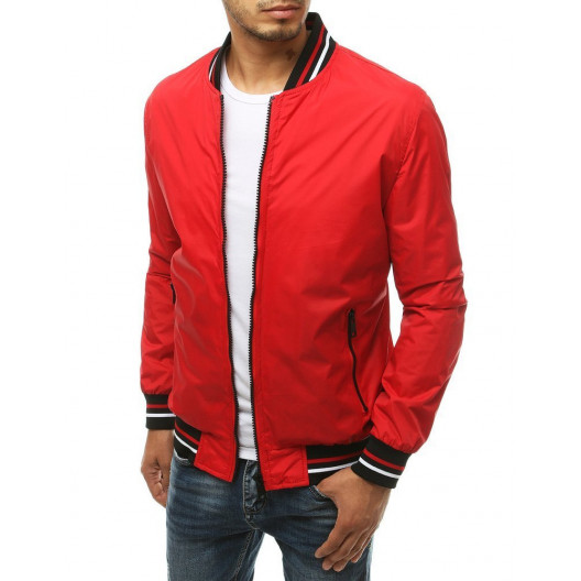 Bomber bunda pre pánov v červenej farbe