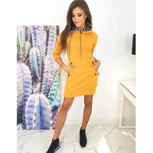Moderné žlté dámske šaty