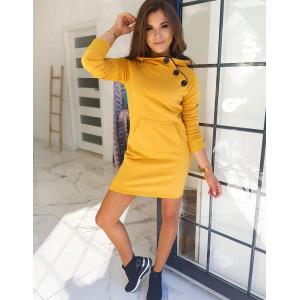 Dámske pohodlné šaty žltej farby