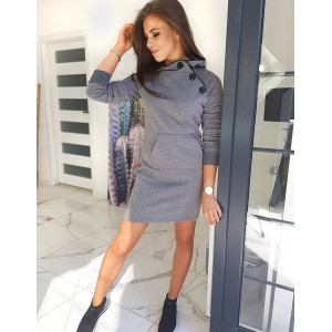Dámske pohodlné šaty sivej farby