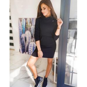 Dámske pohodlné šaty čiernej farby