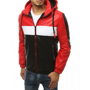 Moderná prechodná bunda so zapínaním na zips a kapucňou