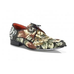Pánske kožené extravagantné topánky s kvetinovým vzorom   COMODO E SANO