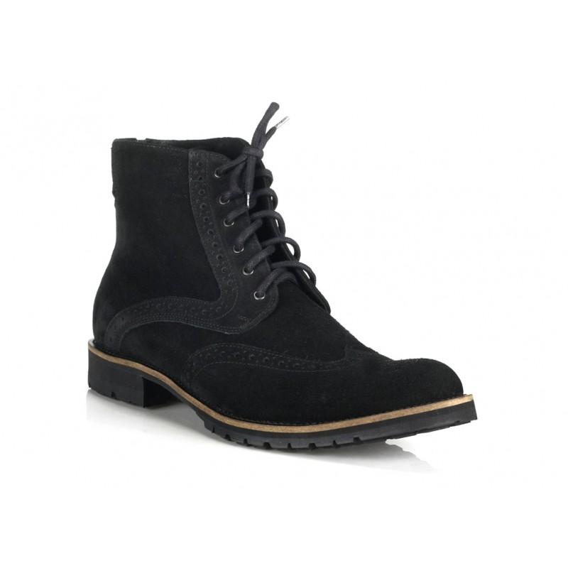 fe6ddd4fff Pánske kožené topánky čiernej farby COMODO E SANO - fashionday.eu