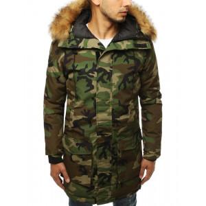 Krásna maskačová zimná bunda pre pánov
