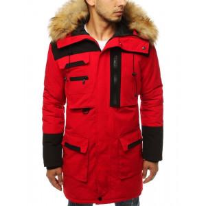 Krásna červená zimná bunda pre pánov