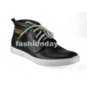 Pánske kožené topánky lesklé čierne