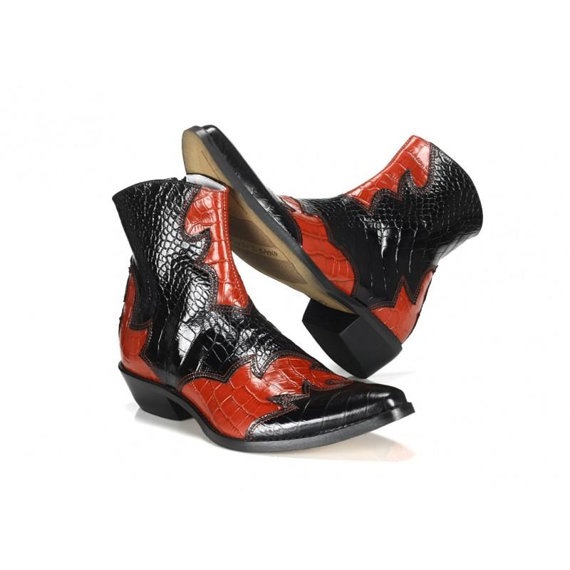 923c8eced137 Talianske kožené kovbojky čiernej farby COMODO E SANO - fashionday.eu