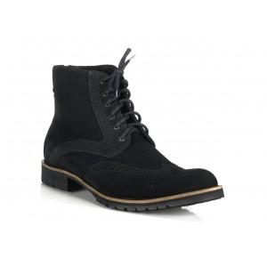 Talianske pánske topánky čiernej farby COMODO E SANO
