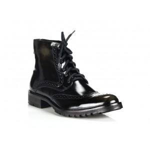 Pánske kožené topánky COMODO E SANO čiernej farby