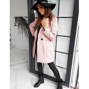 Svetlo ružový dámsky oversize kabát SANLORINI