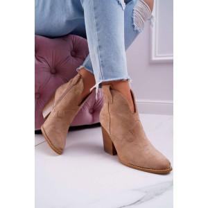 Klasická dámska členková obuv zateplená kožušinou