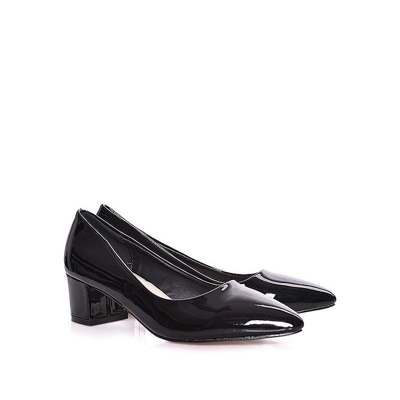 Čierne dámske lodičky na nízkom podpätku - fashionday.eu d00e63e800f