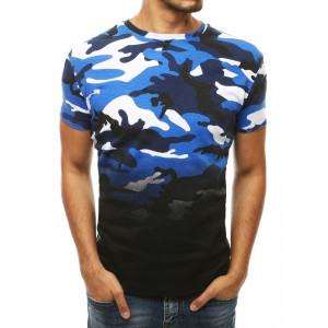 Pánske tričko s army vzorom v modrej farbe