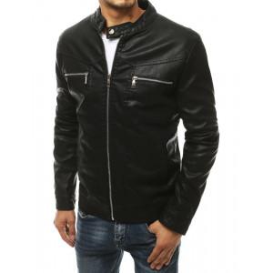 Štýlová pánska kožená bunda na jeseň