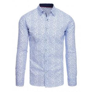 Pánska vzorovaná košeľa biela na každý deň