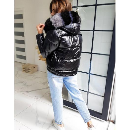 Dámska štýlová bunda čiernej farby