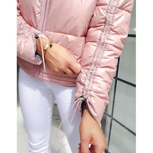 Dámska štýlová bunda ružovej farby