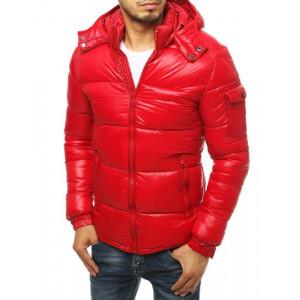 Pánska prešívaná bunda červenej farby