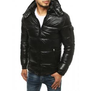 Pánska prešívaná bunda čiernej farby