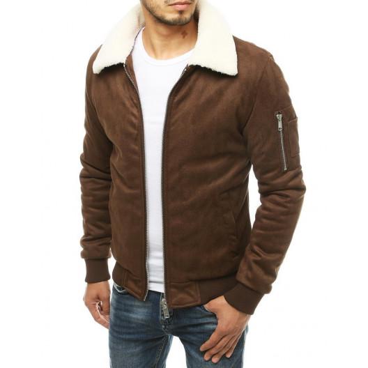 Pánska štýlová bunda v hnedej farbe