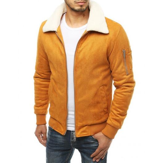 Pánska štýlová bunda v ťavej farbe
