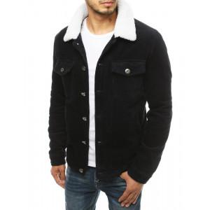 Pánska bunda v čiernej farbe