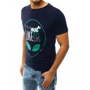 Pánske tričko tmavomodrej farby s motívom