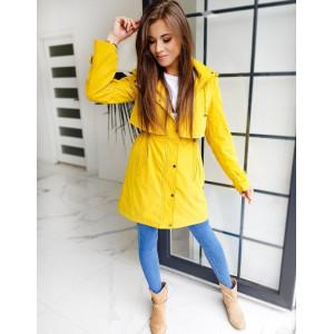 Krásny pohodlný dámsky žltý kabát