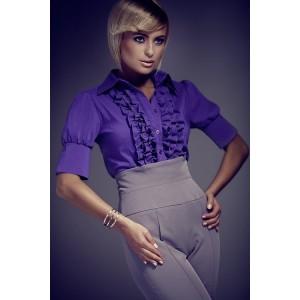Fialová formálna dámska košeľa
