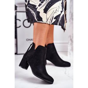 Elegantné dámske čierne kotníkové topánky